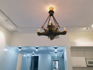chandelier, track and other lighting